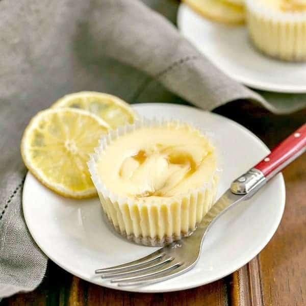 Lemon Curd Mini Cheesecakes