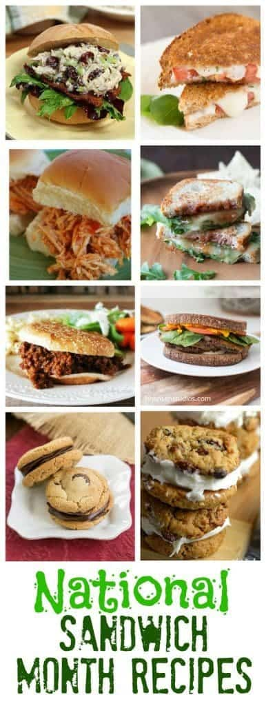 Sandwich Recipes for National Sandwich Month