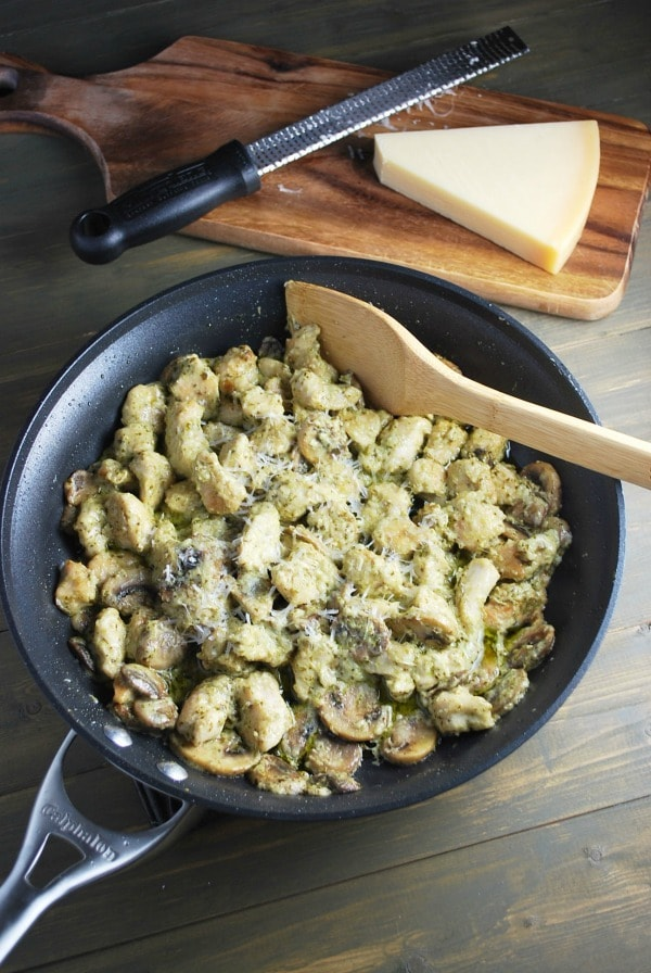 Skillet Pesto Chicken for National Chicken Month