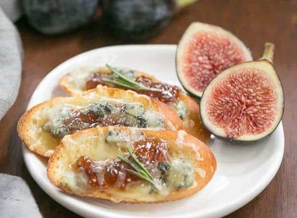 Fig Gruyere Crostini | An unusual combination of toppings that's sure to be a hit!