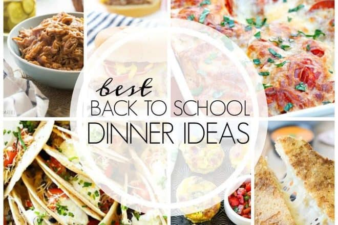 Back to school dinner dishes photo collage