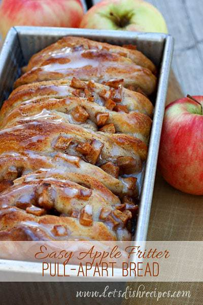 Easy Apple Fritter Pull Apart Bread