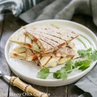 Spicy Pork Quesadillas An easy Tex-Mex dish that's perfect for a weeknight dinner, game day snacking and more!