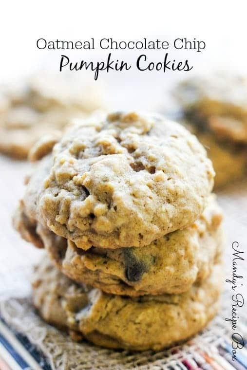 Oatmeal Chocolate Chip Pumpkin Cookies