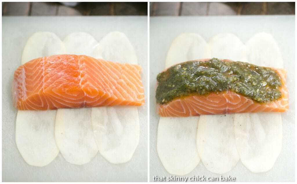 How to wrap Potato Shingled Salmon pictorial