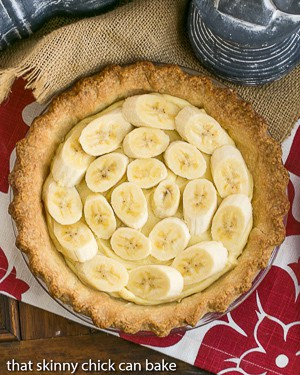 Best Banana Cream Pie with bananas exposed