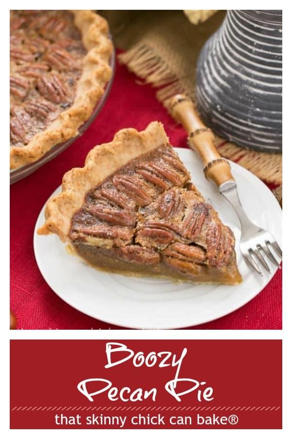 Boozy Pecan Pie photo and text collage