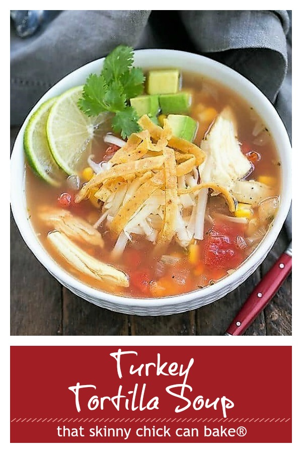 Leftover Turkey Tortilla Soup pinterest collage