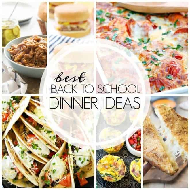 Easy Back to School Recipes collage
