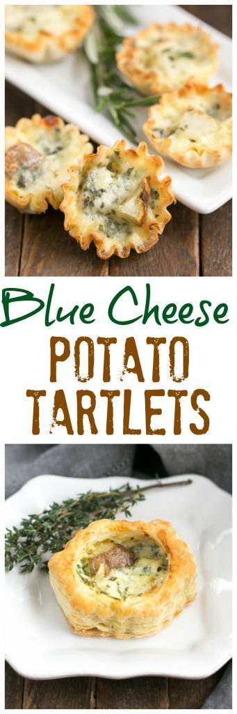 Potato Blue Cheese Tartlets photo collage