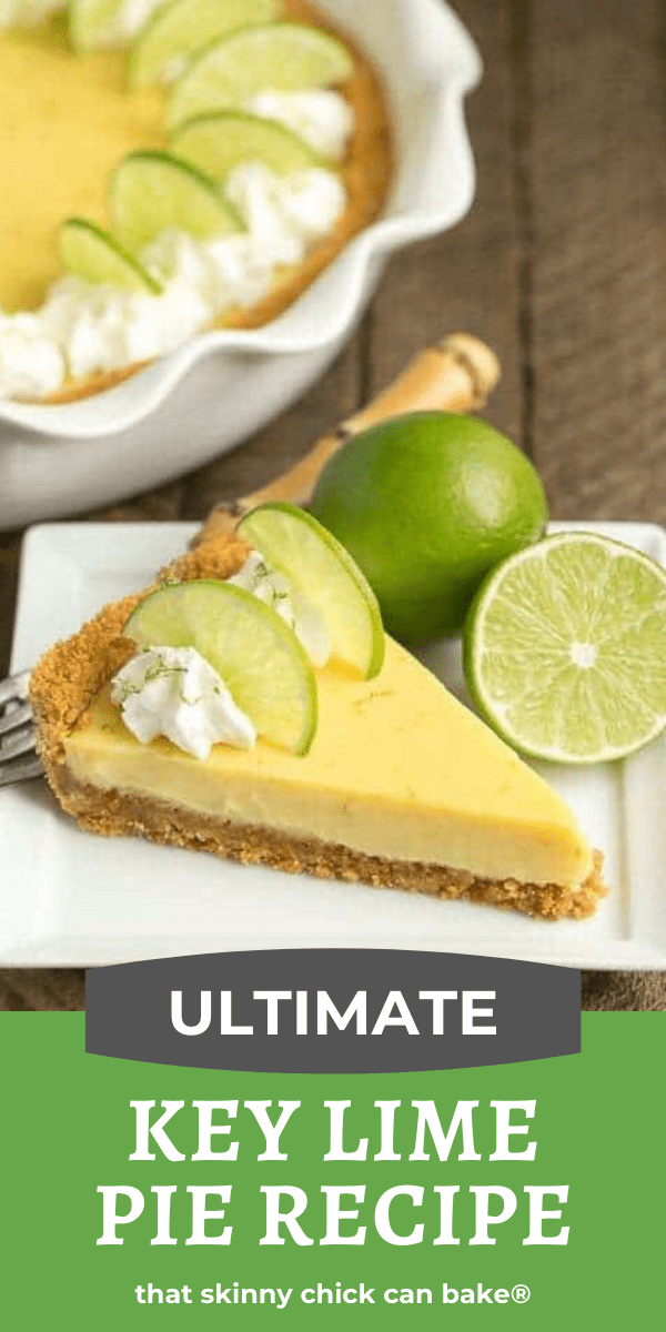 Key Lime Pie with Graham Cracker Crust photo and text collage