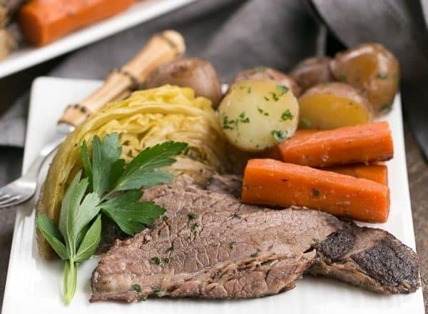 Irish Braised Corned Beef | Brisket slow cooked with the classic corned beef spices!
