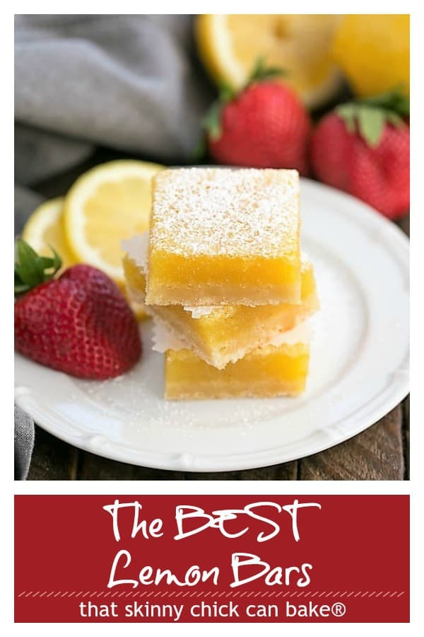 The Best Lemon Bars Recipe pinterest collage