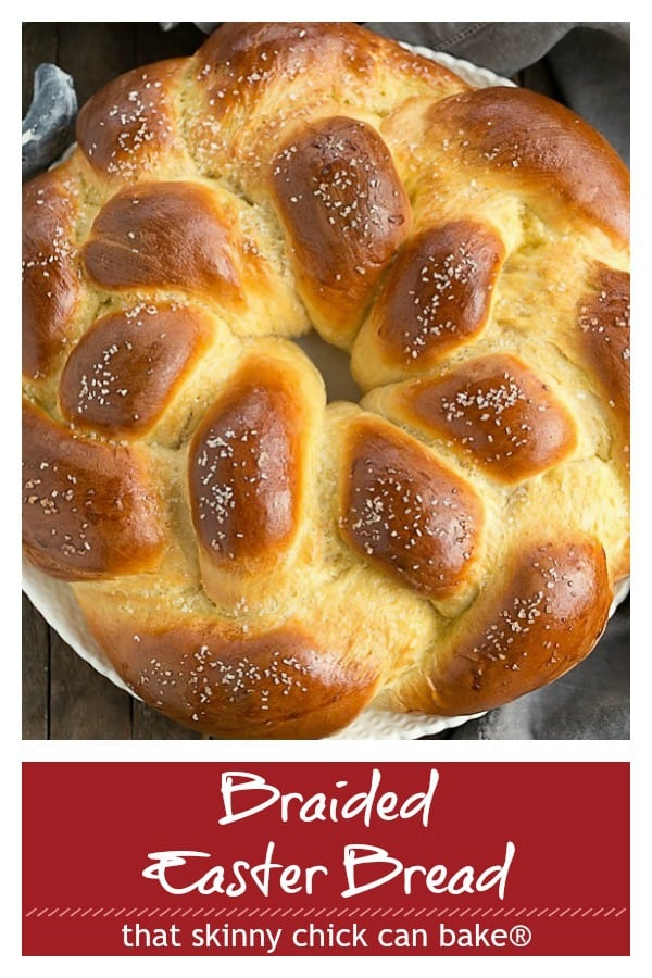 Braided Easter Bread pinterest text and photo collage