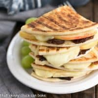 Bacon Apple & Brie Panini   A gooey, gourmet grilled cheese