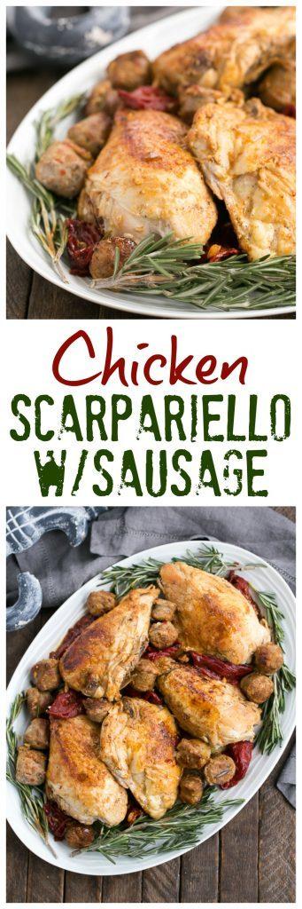 Chicken Scarpariello | A terrific Italian-American entree that packs loads of deliciousness!