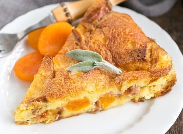 Apricot Prosciutto Strata | A fabulous, make ahead breakfast casserole!
