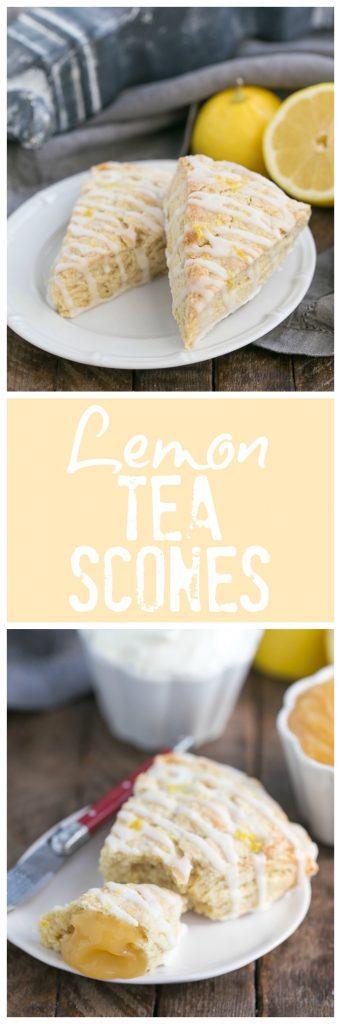 Glazed Lemon Tea Scones photo and text collage