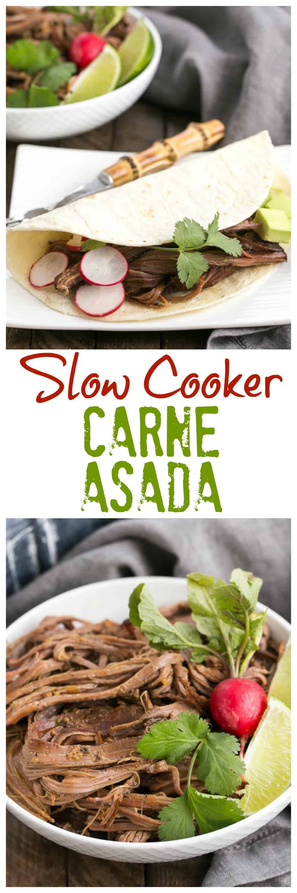 Slow Cooker Carne Asada | The classic Latin dish made in a slow cooker!