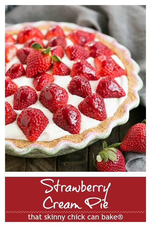 Strawberry Cream Pie Pinterest collage