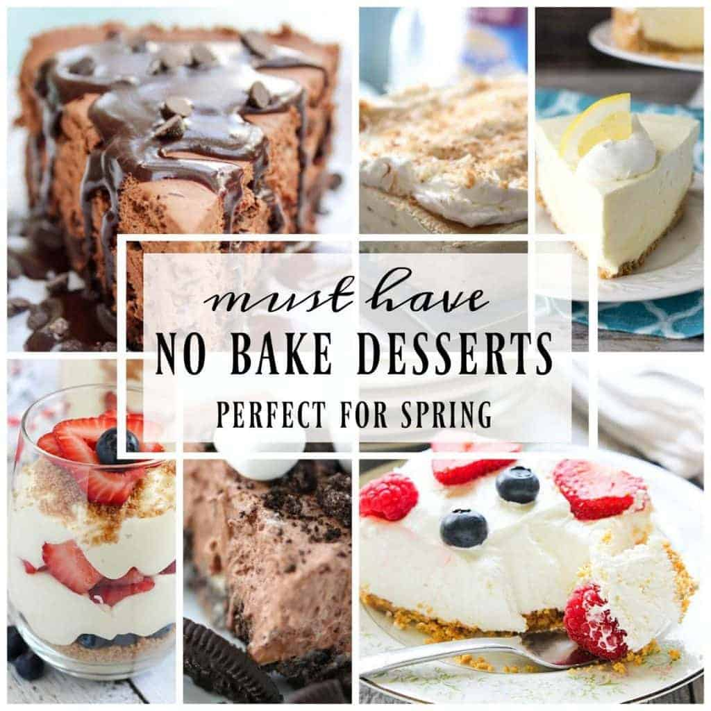 Favorite Spring No-Bake Desserts | Perfect treats when you don't want to mess with the oven!