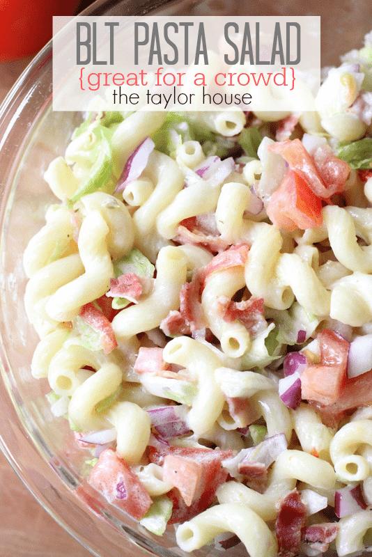 bowl of blt pasta salad