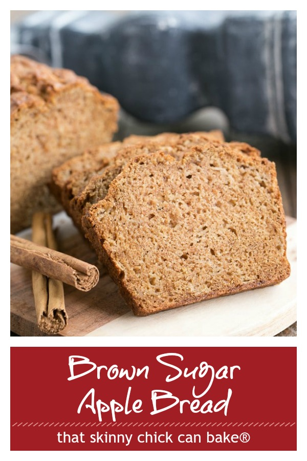 Text and photo collage of Brown Sugar Apple Bread