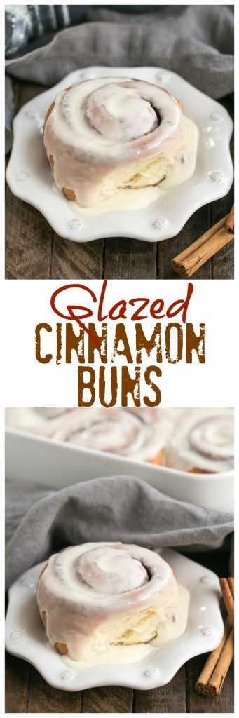 Glazed Cinnamon Buns | The quintessential cinnamon roll, tender and irresistible with a creamy vanilla icing