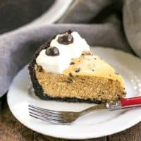 Featured image for Mocha Cheesecake with Chocolate Chips