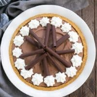 Chocolate Cream Pie pinterest photo and text collage
