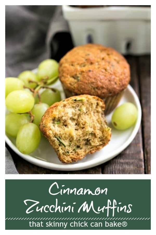 Zucchini Muffins photo and text collage