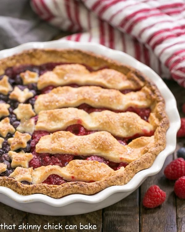 Patriotic Stars And Stripes Berry Pie That Skinny Chick Can Bake