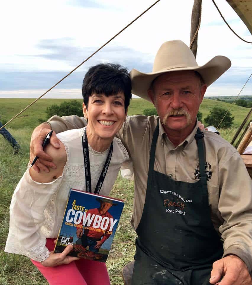 Liz with cookbook author, Kent Rollins