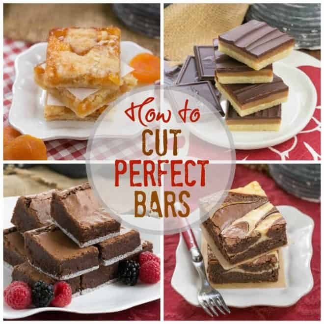 How to Cut Perfect Cookie Bars collage