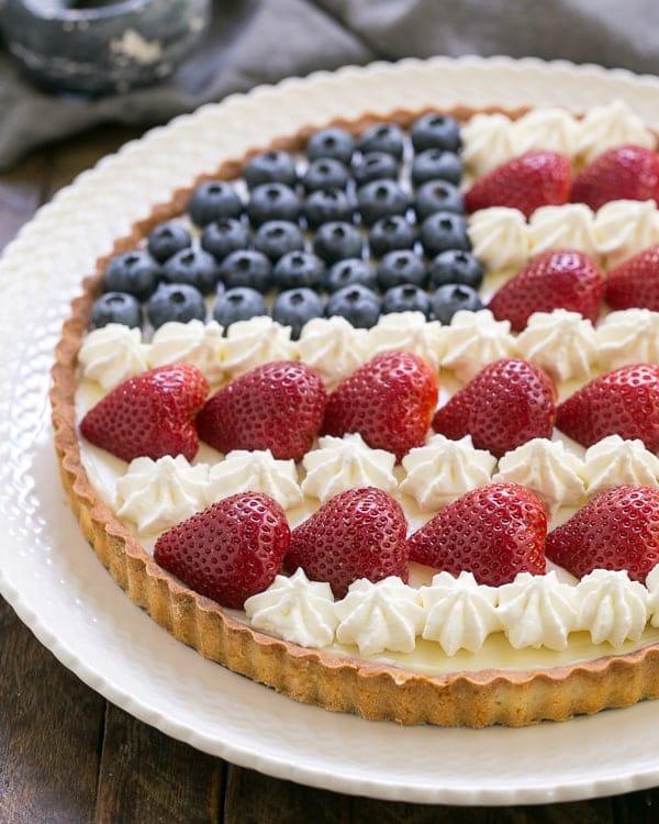 American Flag Fruit Tart