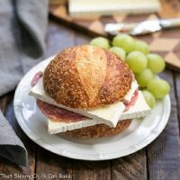 Salami Sandwich with grapes featured image