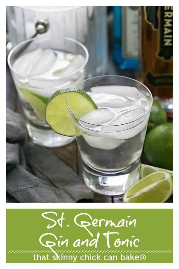 St. Germain Gin and Tonic pinterest text and photo collage