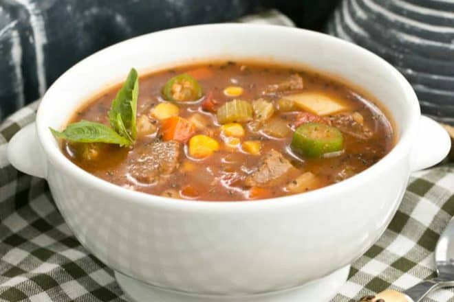 Vegetable Beef Soup | A healthy soup chock full of vegetables and lean beef