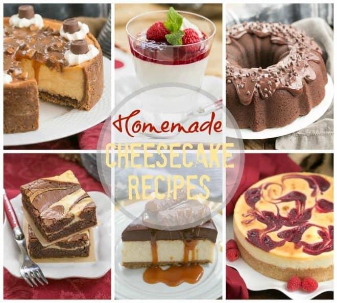Unique Homemade Cheesecake Desserts collage