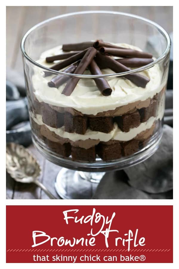 Fudgy Brownie Trifle Pinterest collage