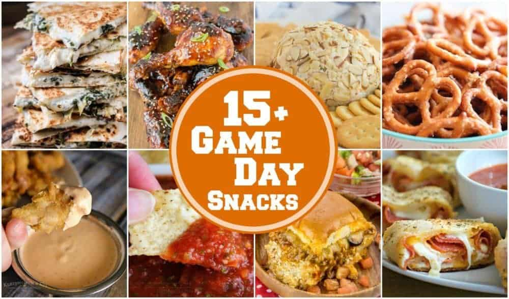 15+ Game Day Snacks featured image collage
