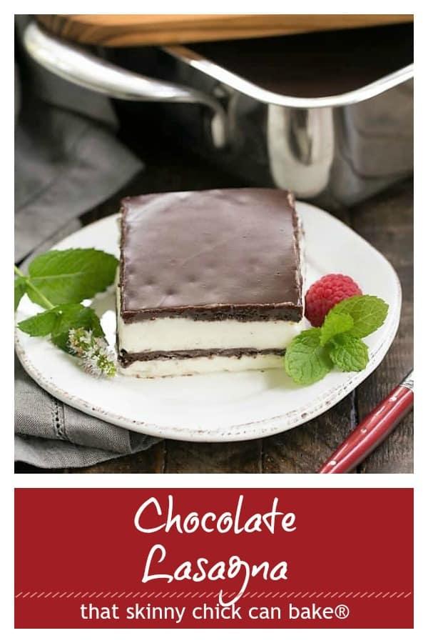 No Bake Chocolate Lasagna pinterest collage