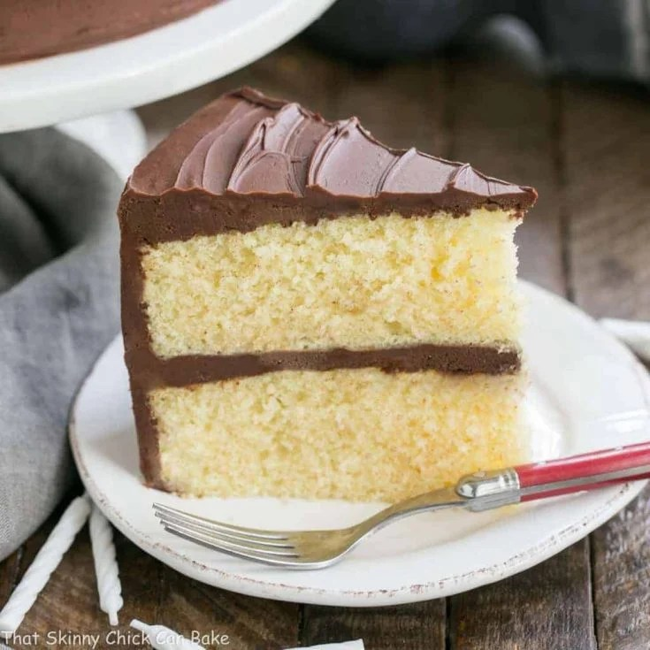 Classic Yellow Butter Cake with Chocolate Icing | Perfect cake for any celebration!