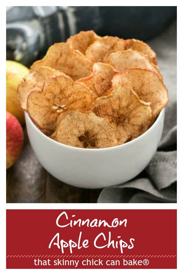 Cinnamon Apple Chips collage with photo and text