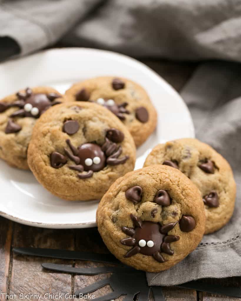 Halloween Spider Chocolate Chip Cookies | A few simple tweaks turn ordinary cookies into Halloween treats!