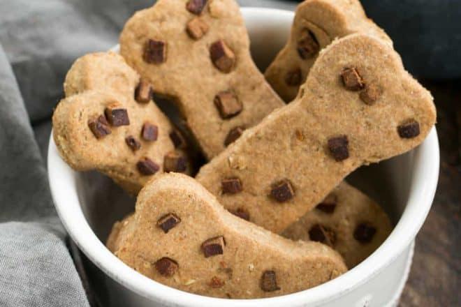 Peanut Butter Dog Bone Treats | Homemade dog snacks your pet will adore!