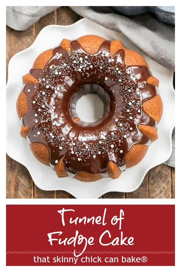 Tunnel of fudge cake Pinterest collage