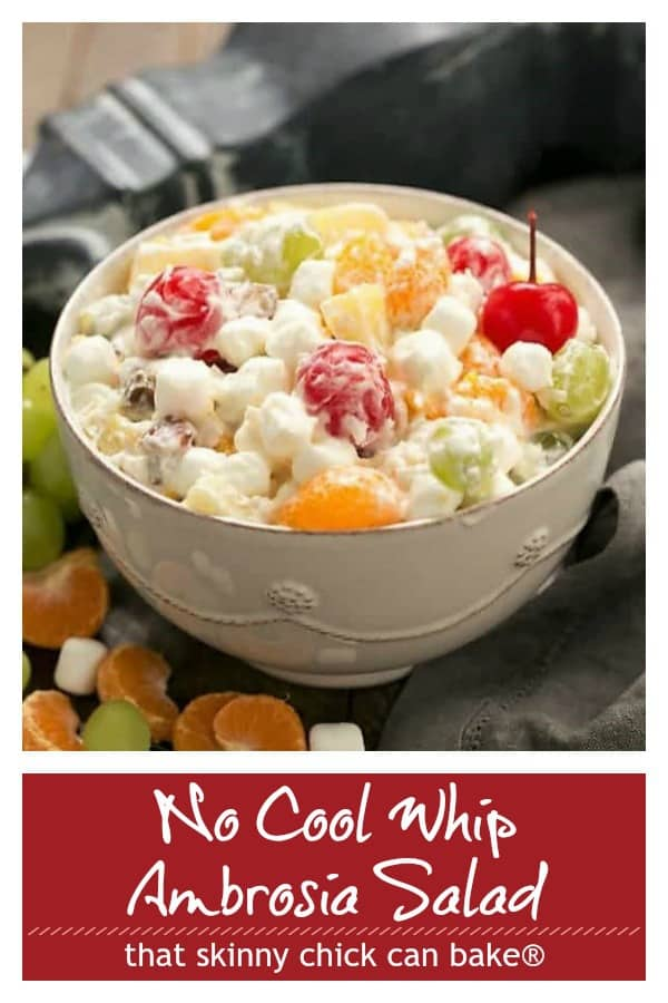 Best Ambrosia Salad photo and text Pinterest collage