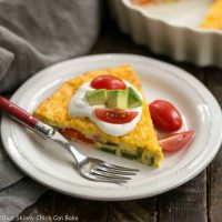 Baked Denver Omelet | A simple, scrumptious, easy to make baked ham and vegetable omelet!
