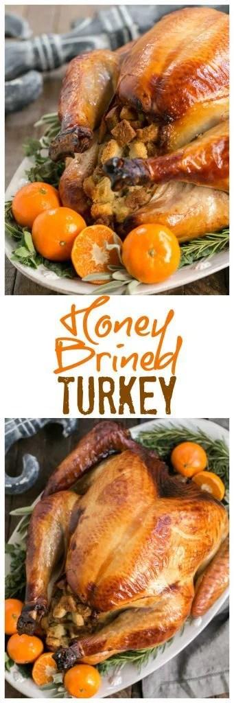 Honey Brined Turkey Recipephoto collage for Pinterest